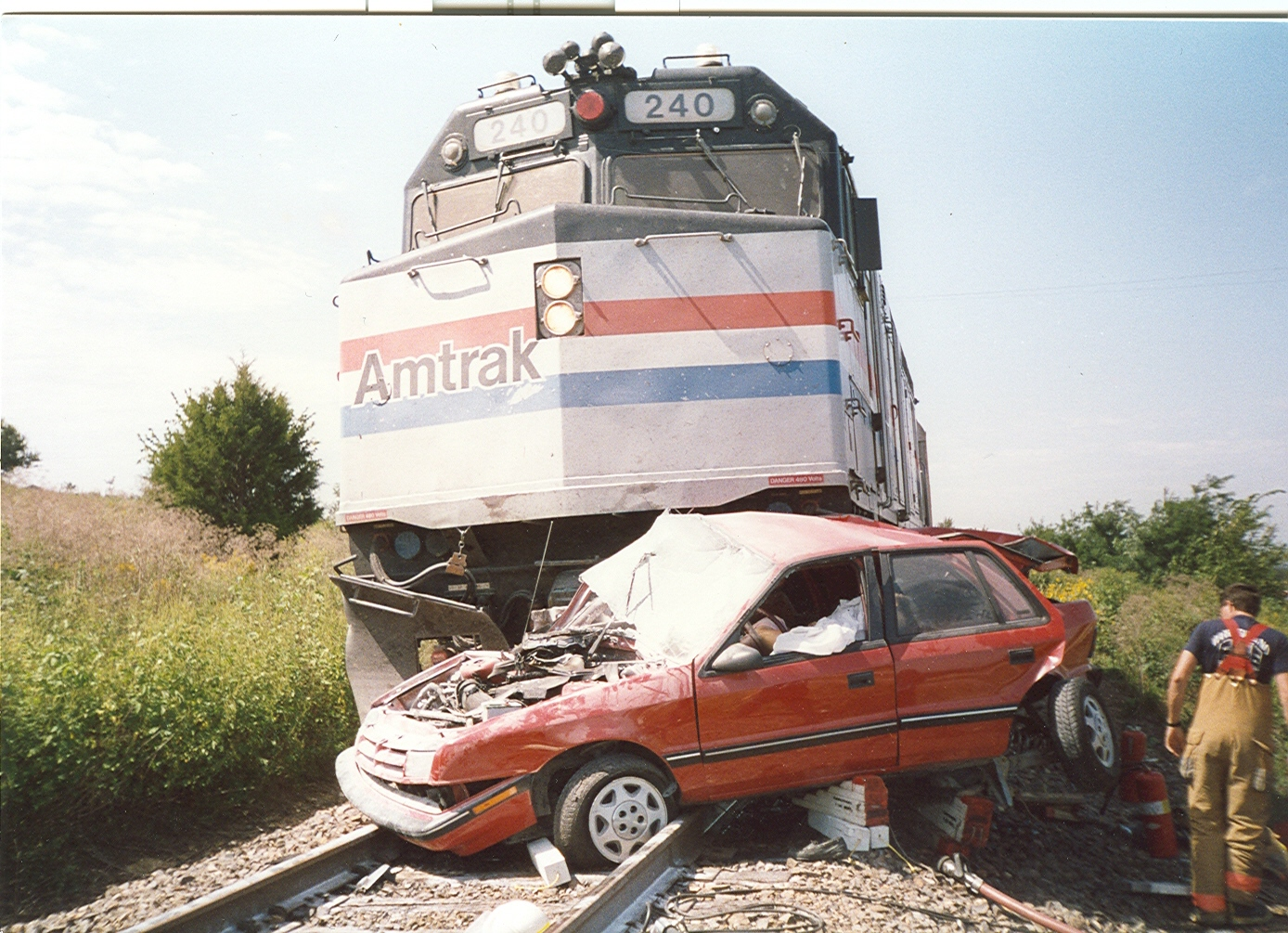 essay on railway crossing accident